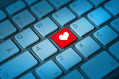 Chiave di tastiera a forma di cuore — Foto Stock