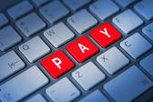 Pay keyboard key — Stock Photo