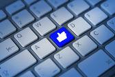 Thumbs up keyboard key — Stock Photo