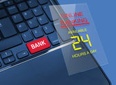 Bank keyboard key — Stock Photo