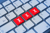 Xxx keyboard keys — Stock Photo