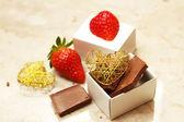 Chocolate and strawberry — Stock Photo