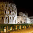 Leaning tower of Pisa by night - Stock Photo