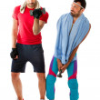 Fitness weights life style - Stock Photo