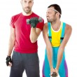 Fitness weights life style — Stock Photo