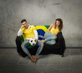Football supporter sadness — Stock Photo