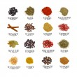 Named spices — Stock fotografie