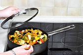 Vegetarian cooking — Stock Photo