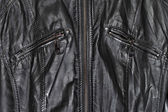 Black leather and zippers — Foto de Stock