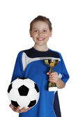 Football winner — Stock Photo