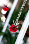 Close of ruby pendant — Stock Photo
