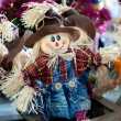 Funny hand made scarecrow dolls - Stock Photo