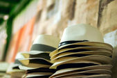 Shop straw hat — Stock Photo
