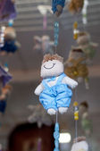Baby mobile doll — Foto Stock