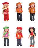 Fashion Dolls collection — Stock Photo