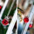 Stock Photo: Necklace wit pendant collection