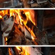 Wood burning stove — Stock Photo #13842615