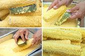 集合光栅玉米 — 图库照片