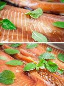 Peixe de coleção com ervas — Foto Stock