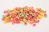 Colorful fruit cereal background — Stock Photo