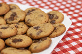 Chocolate Chip Cookies on table — Stock Photo
