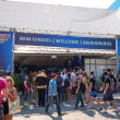 Stock Photo: Rio de Janeiro Brazil April 26 2013 Front view of entry and visitors on Arnold Classic Brasil 2013