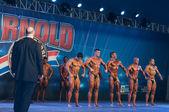 Rio de Janeiro Brazil April 26 2013 Amateur Mens Bodybuilding on Arnold Classic Brasil 2013 — Stock Photo