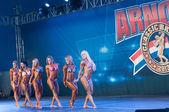 Rio de Janeiro Brazil April 26 2013 Amateur Womens Bodybuilding on Arnold Classic Brasil 2013 — Stock Photo