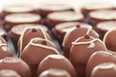 La fermeture des truffes au chocolat — Photo