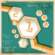 Sports background vintage — Stock Vector