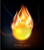 Fiery design — Stock Vector