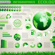 Ecology  social info graphics vector elements.   — Stock Vector