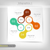 Infographic design template — Vettoriale Stock