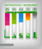 Infographic ecology design — Stock Vector