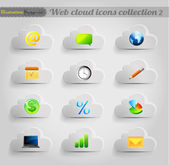 Internet cloud icons set — Stock Vector