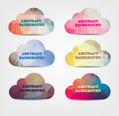 Abstarct background with cloud icons — Stock Vector