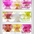 Colorful abstract geometric background — Imagens vectoriais em stock