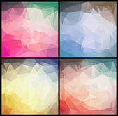 Colorful geometric background set — Stock Vector
