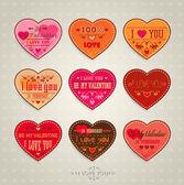Happy Valentine's Day Cards — Stockvector