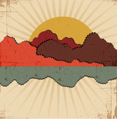 Abstract sunset .Retro background — Stock Vector