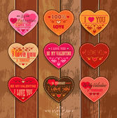 Set of Happy Valentine's Day Cards — Vetorial Stock