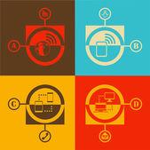 Flat design vector illustration technology and communication — Vetorial Stock