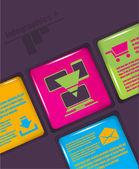Flat design vector illustration technology and communication — Stock Vector