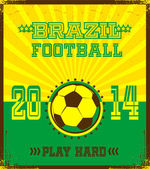 Brazilian football poster — Stock Vector