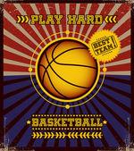 Affiche de basket-ball. — Vecteur