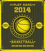 Basketball poster. — Stock Vector