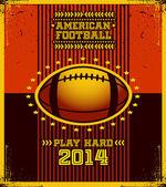 Affiche football américain. — Vecteur