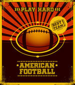 American football poster. — Stock Vector
