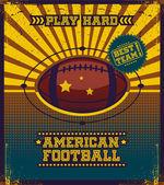 American football poster. — Stock Vector