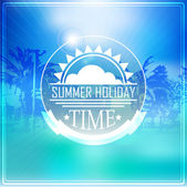 Summer holidays illustration with logo — Stock Vector